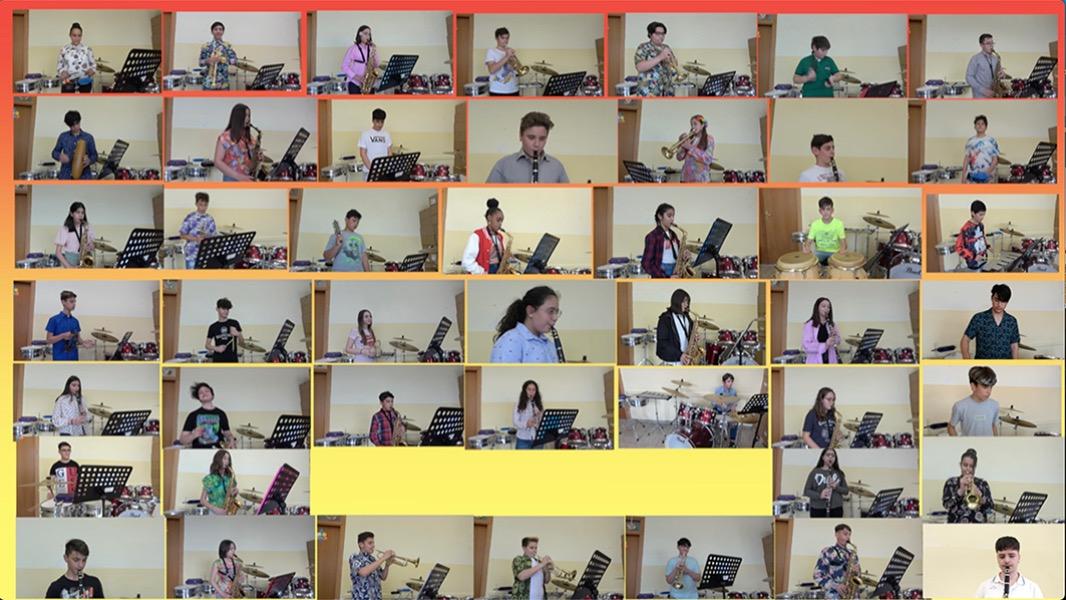 Il saluto degli alunni di Strumento musicale